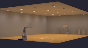 Small Basketball Gym LED Lighting
