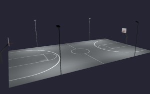 Outdoor Basketball LED Lighting Full Court