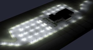 Auto Dealership Parking Lot with Sensing Step Dimming